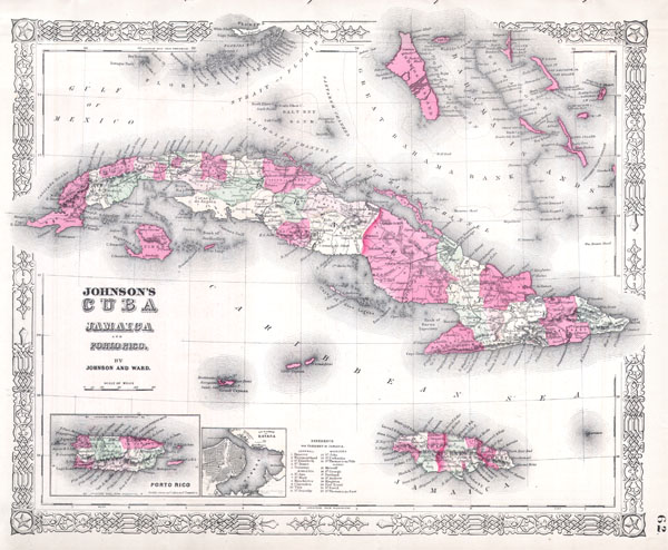 Johnson's Cuba, Jamaica, and Porto Rico. - Main View