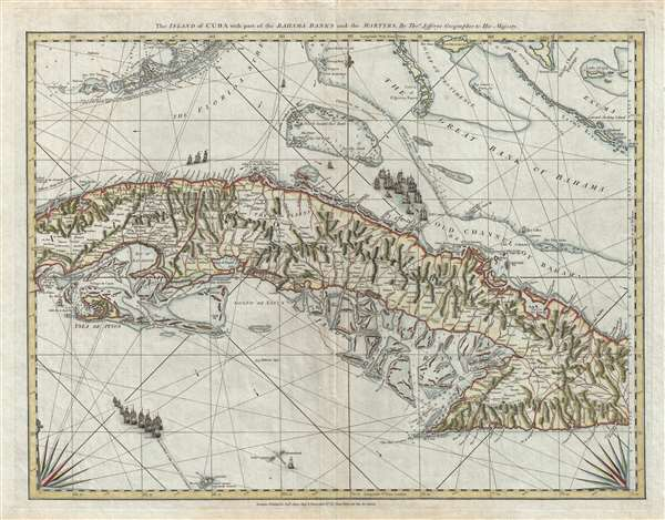 The Island of Cuba with part of the Bahama Bank and the Martyrs.