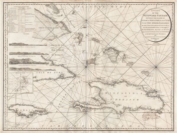 A Chart of the Windward Passage Between the Islands of Jamaica Hispaniola and Cuba with the other Passages to the Northwest of Hispaniola.