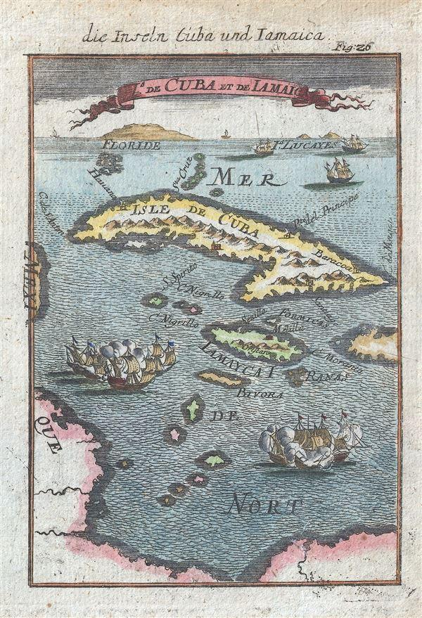 Die Inseln Cuba und Iamiaica / De Cuba et de Iamaica.