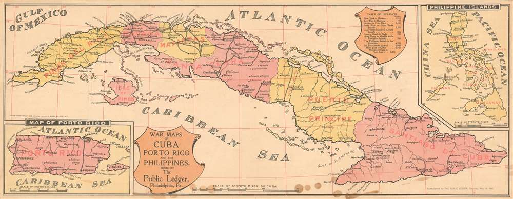 War Maps of Cuba Porto Rico and the Philippines. - Main View