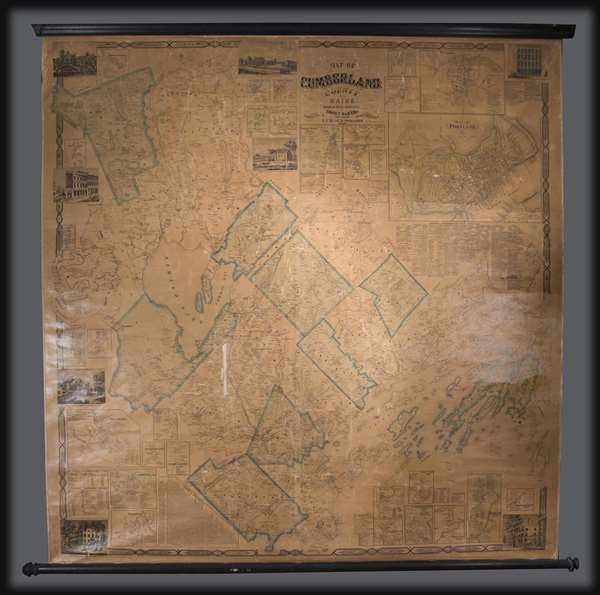 Map of Cumberland County Maine from actual surveys.