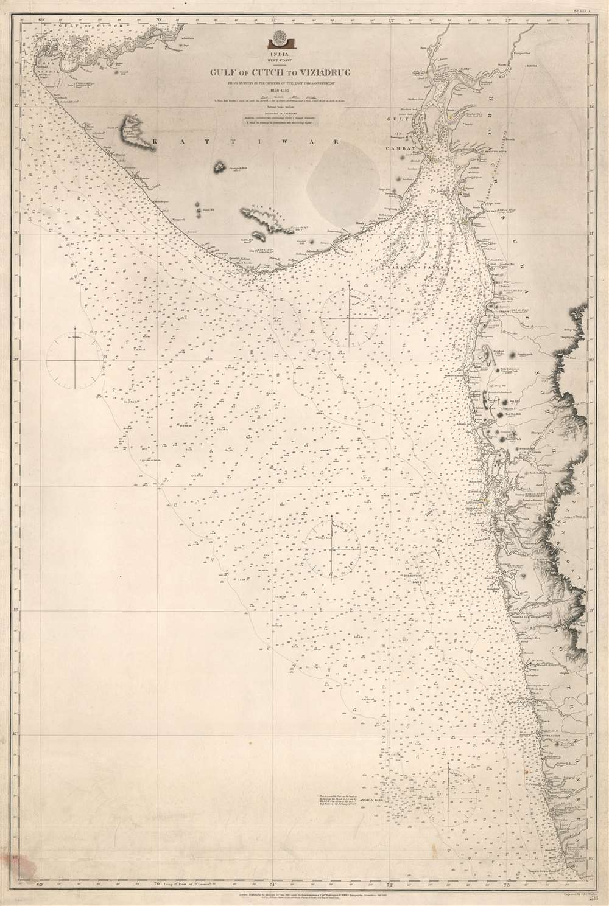 India. West Coast. Gulf of Cutch to Viziadrug. - Main View