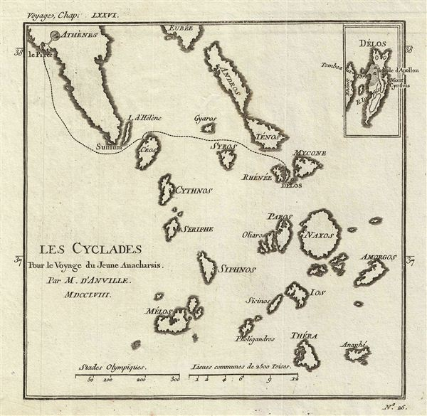 Les Cyclades Pour le Voyage du Jeune Anacharsis. - Main View
