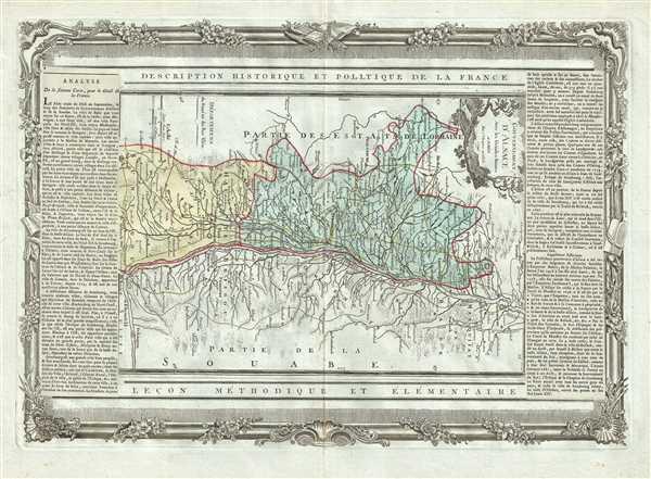 Gouvernement d'Alsace Avec les Grandes Routes.