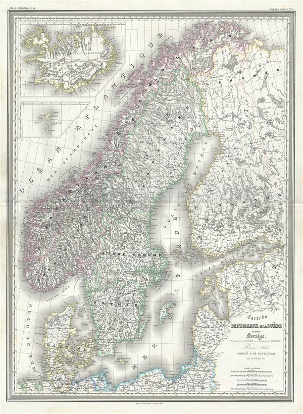 Carte du Danemarck, de la Suede et de la Norvege. - Main View