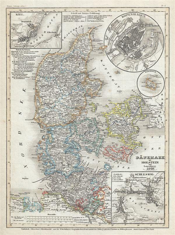 Danemark mit Holstein und Lauenburg.