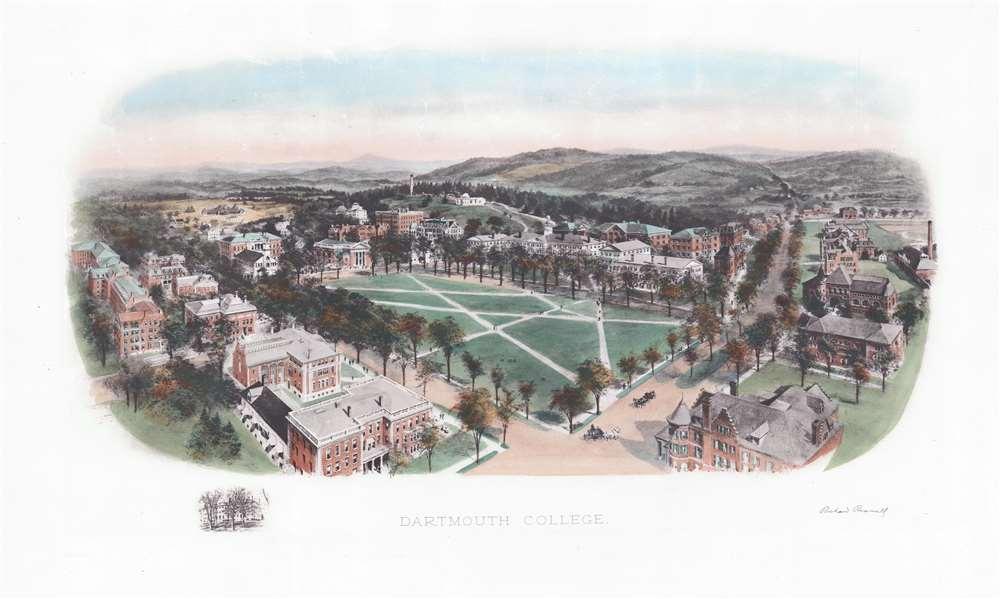 1913 Rummell Bird's-Eye View of Dartmouth College, New Hampshire