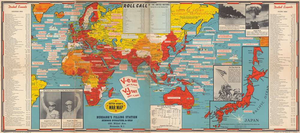 Dated Events War Map.: Geographicus Rare Antique Maps
