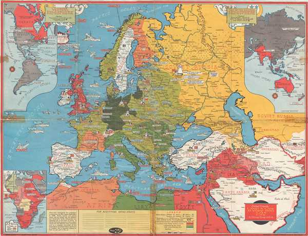 Dated Events World War Map.: Geographicus Rare Antique Maps