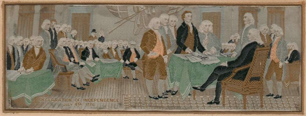 Declaration of Independence July 4th, 1776. - Main View