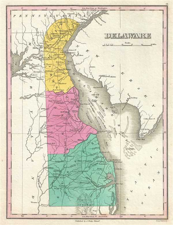 Delaware.: Geographicus Rare Antique Maps on