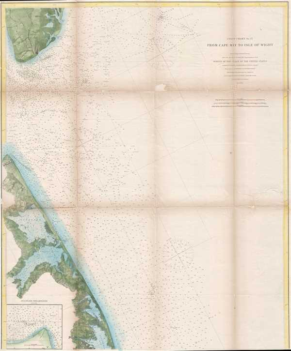 Coast Chart No. 27 From Cape May to Isle of Wight.