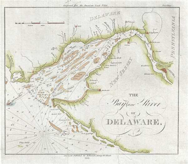 The Bay and River of Delaware. - Main View
