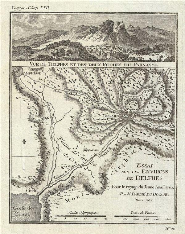 Essai sur les Environs de Delhes Pour le Voyage du Jeune Anacharsis.