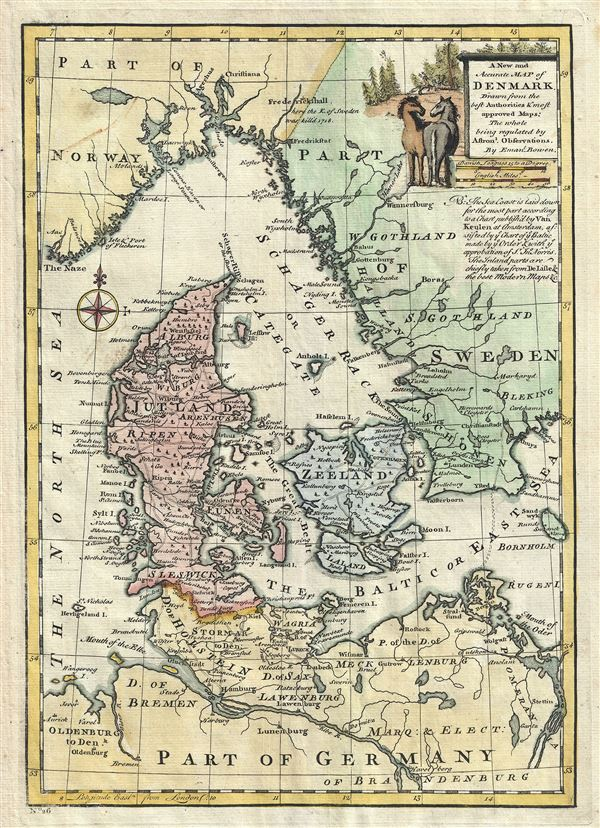 A New and Accurate Map of Denmark. - Main View