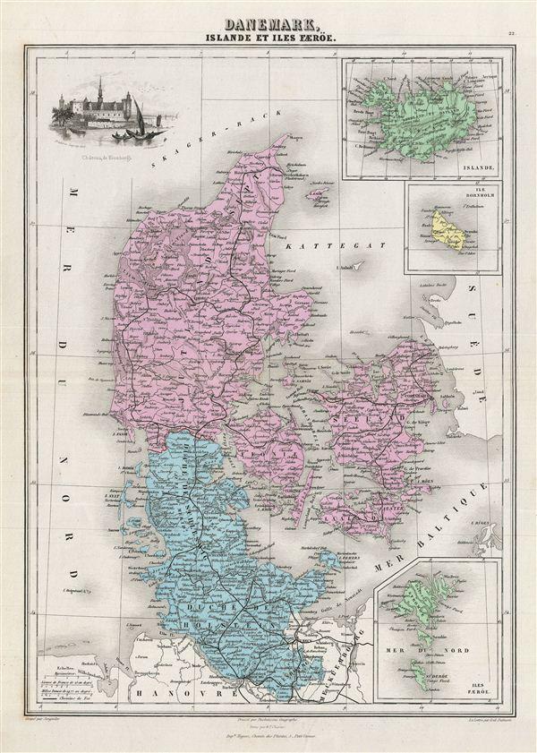 Danemark, Islande et Iles Faeroe.