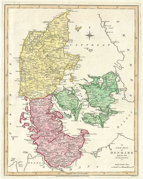 A New Map of Denmark from the Best Authorities.