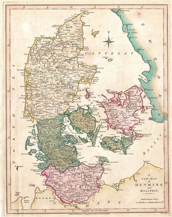 A New Map of Denmark and Holstein.