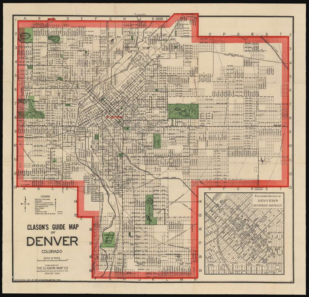 Clason's Guide Map of Denver Colorado.: Geographicus Rare ... on san diego, boulder colorado map, centennial colorado map, missoula montana map, rocky mountains, evans colorado map, salt lake city, las vegas map, lakewood colorado map, colorado state map, casper wyoming map, elizabeth colorado map, colorado springs, estes park colorado map, denver tech center, colorado rockies map, new orleans, castle rock co map, federal heights colorado map, colorado us map, loveland colorado map, sterling colorado map, san antonio, usa map, united states map, kansas city,