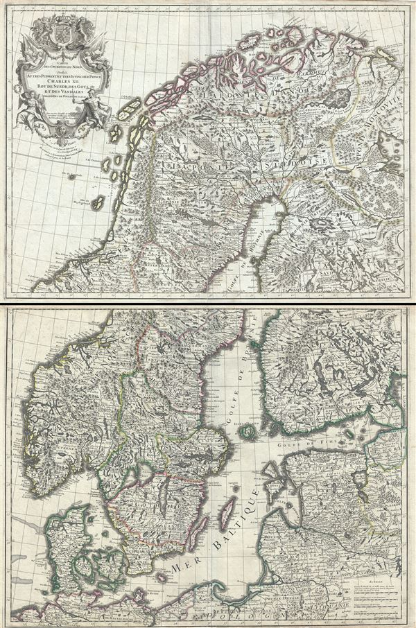 Carte des Courones du Nord. - Main View