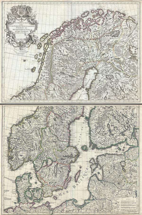 Carte des Courones du Nord.