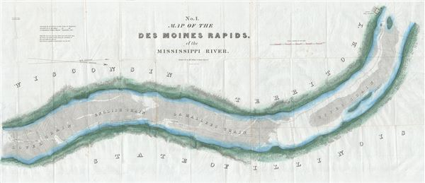 No. 1. Map of the Des Moines Rapids, of the Mississippi River. - Main View