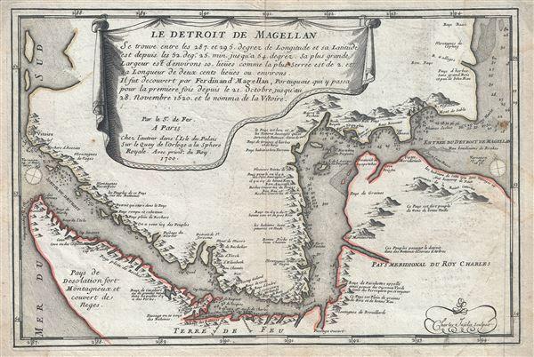Le Detroit de Magellan.