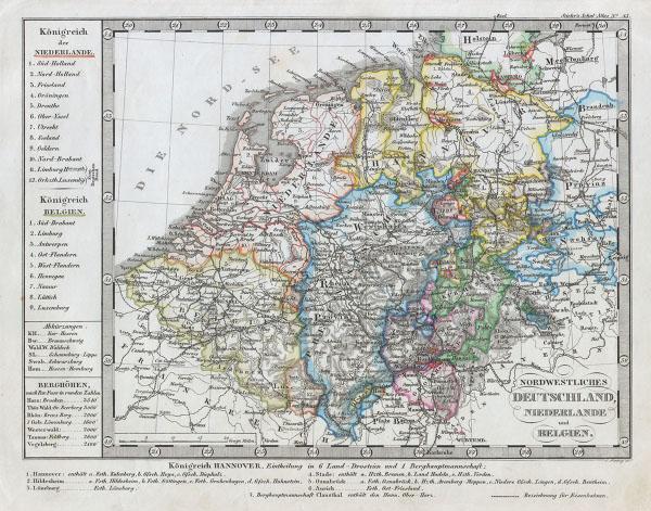 Nordwestliches Deutschland, Niederlande und Belgien.