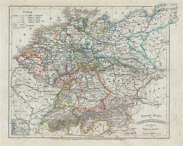 General Karte von Deutschland.