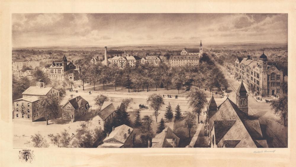 1910 Richard Rummell View of Dickinson College, Pennsylvania