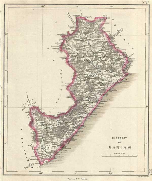 District Of Ganjam Geographicus Rare Antique Maps