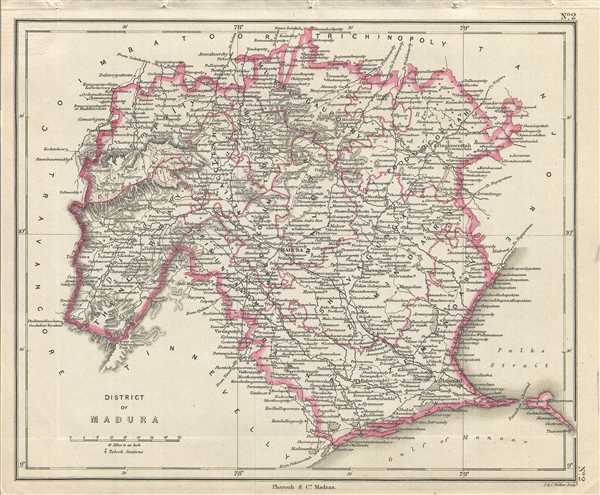 District of Madura : Geographicus Rare Antique Maps
