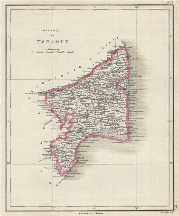 District Of Tanjore Geographicus Rare Antique Maps - Portugal map districts