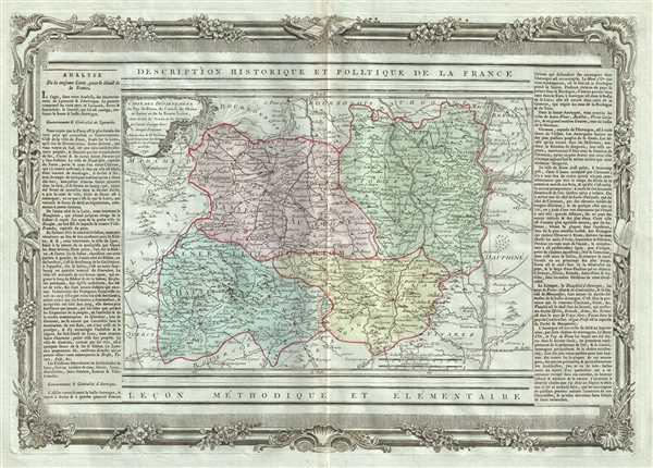 Carte des Departemens du Puy de Dome, du Cantal, Du Rhone et Loire et de la Haute Loire.