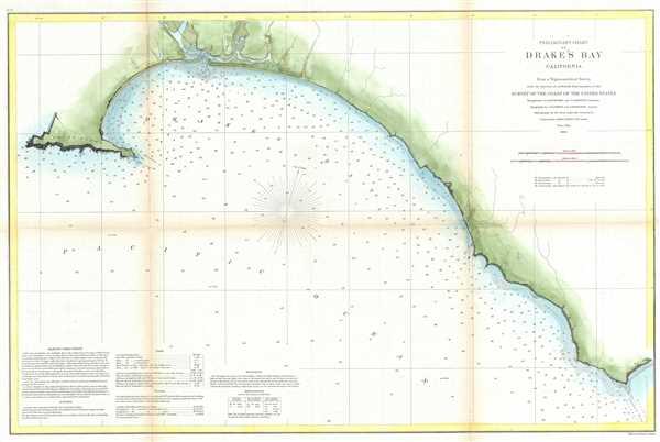 Preliminary Chart of Drake's Bay California.