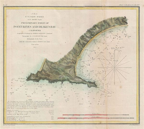 (J No. 6) Preliminary Survey of Point Reyes and Drake's Bay California. - Main View