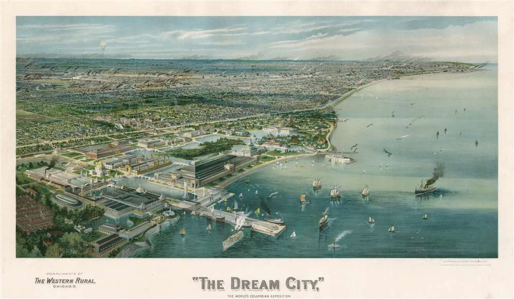 'The Dream City,' The World's Columbian Exhibition. - Main View