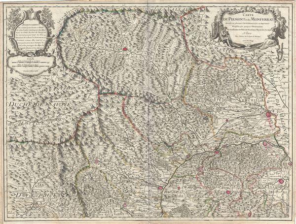 Carte du Piemont et du Monferrat.