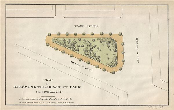 Plan of Improvements of Duane St. Park.