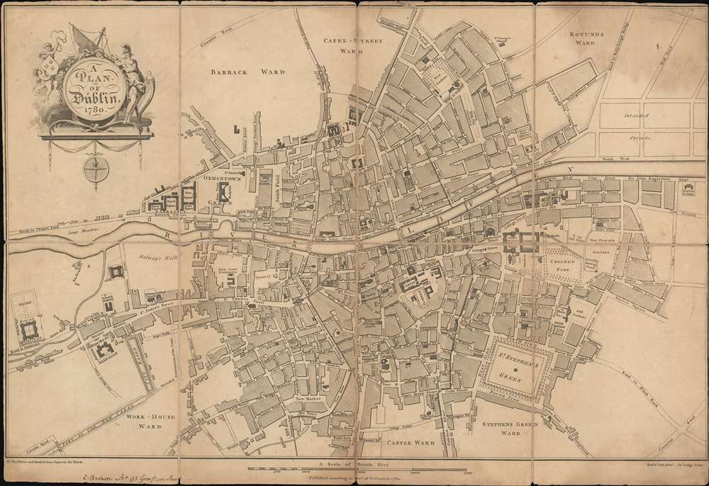 A Plan of Dublin. - Main View