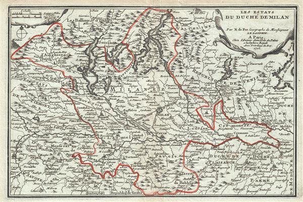 Les Estats du Duche de Milan.