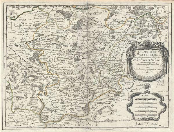 Le Duche de Westphalie ainsi qu'il est presentement possede par L'Eslecteur De Cologne.