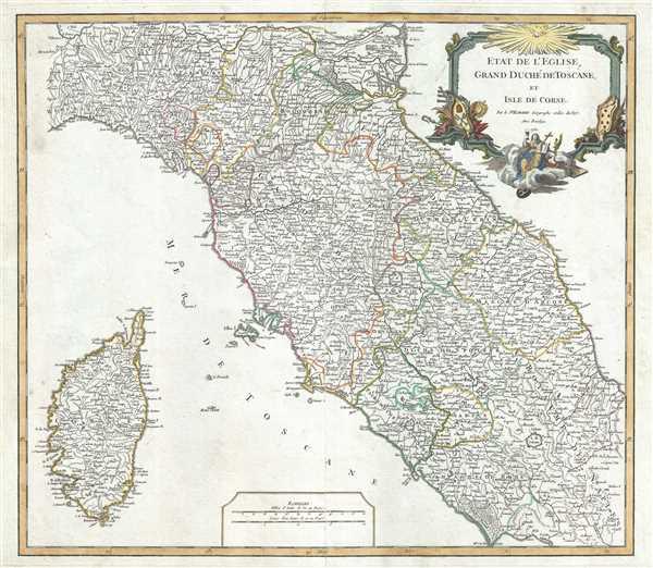 Etat de l'Eglise, Grand Duche de Toscane, et Isle de Corse.