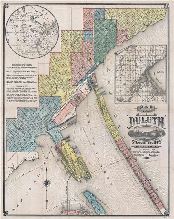 Map of Duluth St. Louis County Minnesota.