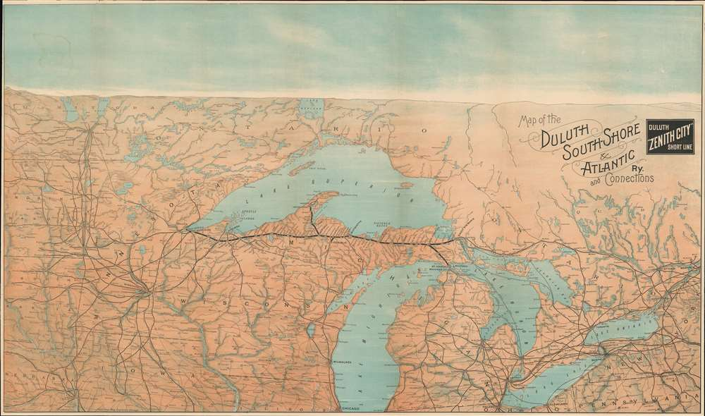 Map of the Duluth South-Shore and Atlantic Ry. And Connections. / Duluth 'Zenith City' Short Line. - Main View