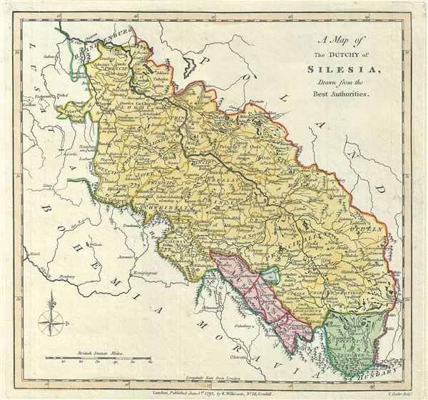 A Map of The Dutchy of Silesia, Drawn from the Best ...Silesia Map Europe