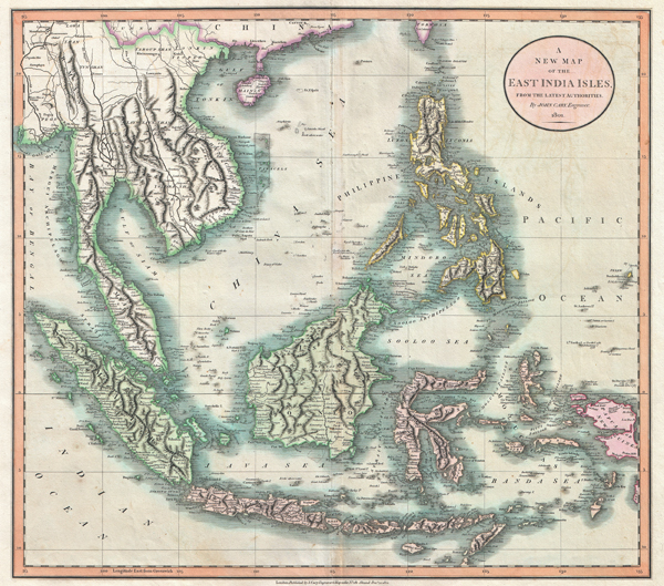 A New Map of the East India Isles, from the Latest Authorities.