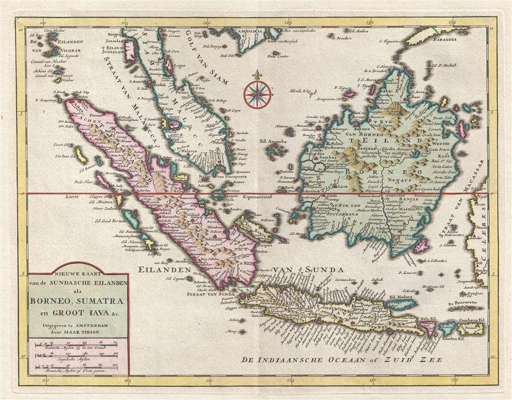 Nieuwe Kaart van de Sundasche Eilanden als Borneo, Sumatra en Groot Jata etc. - Main View