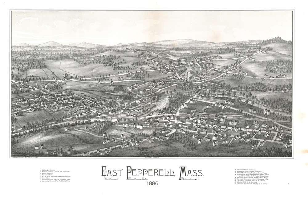 Easter Pepperell, Mass. 1886. - Main View